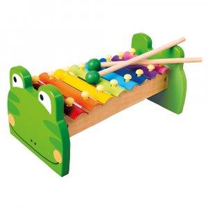 Xylofon kovový Žabka