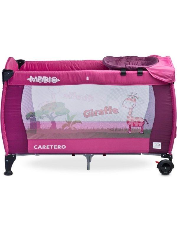 Cestovní postýlka CARETERO Medio - purple - růžová