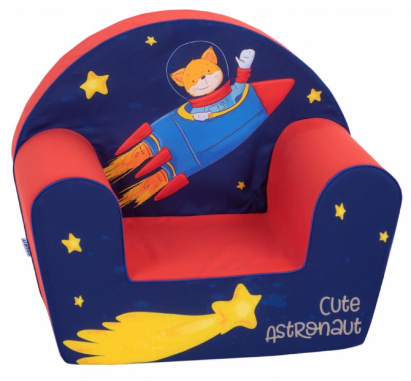 Delsit Dětské křesílko, pohovka - Astronaut, modrá, červená