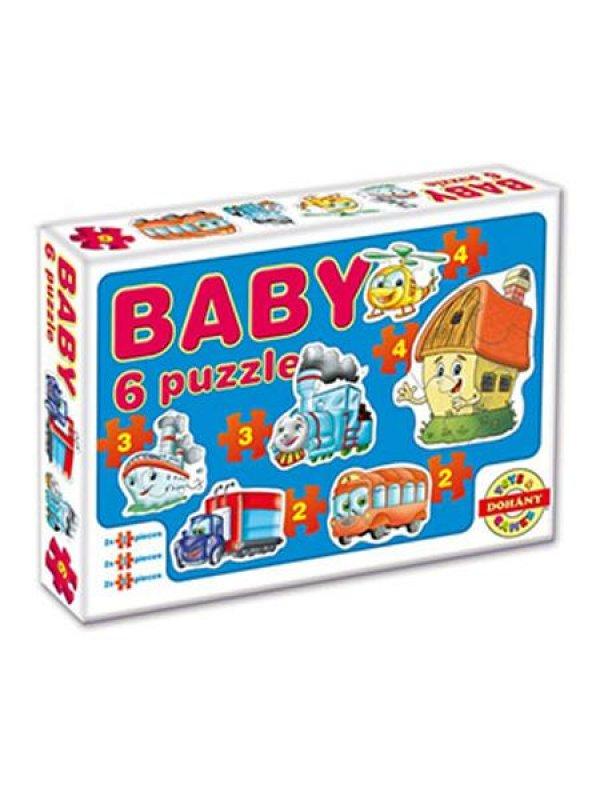 Dětské Baby puzzle - modrá