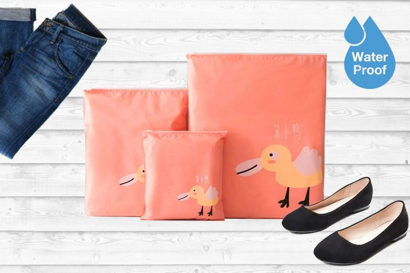 Sada nepromokavých cestovních tašek - růžová
