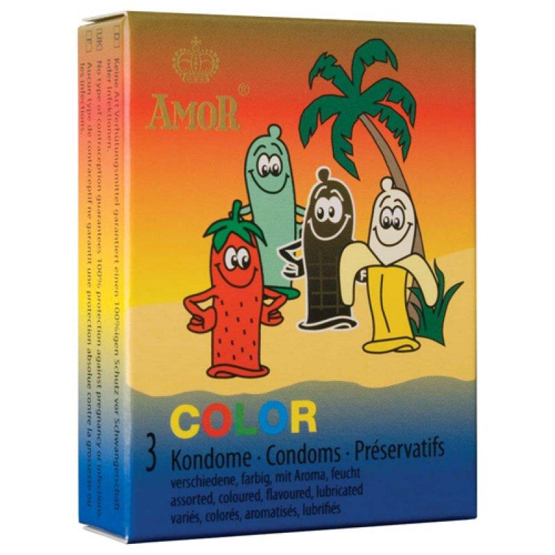 Luxusní kondomy Amor - Color
