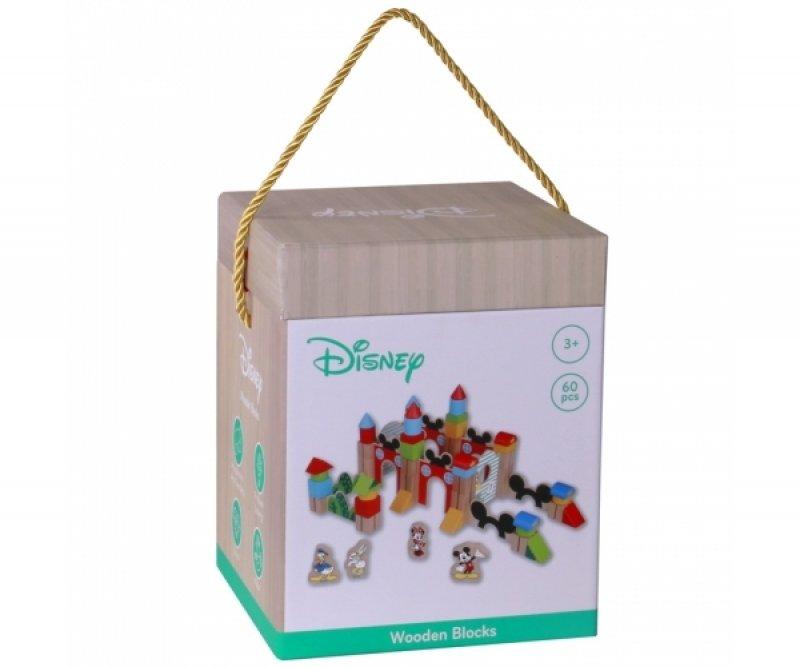 Dřevěné kostky Disney velké 60 ks - Mickeyho hrad