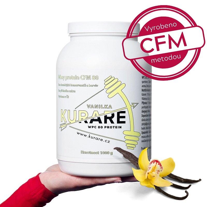 Kurare WPC 80 CFM protein - Vanilka