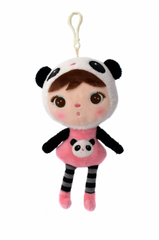 Metoo Mini hadrová panenka s klipem medvídek Panda, 22cm