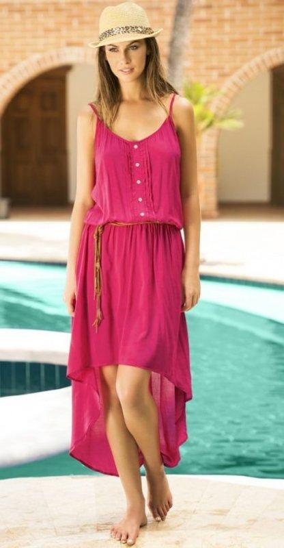 Letní šaty Maria Bonita by PHAX fuchsiové - M