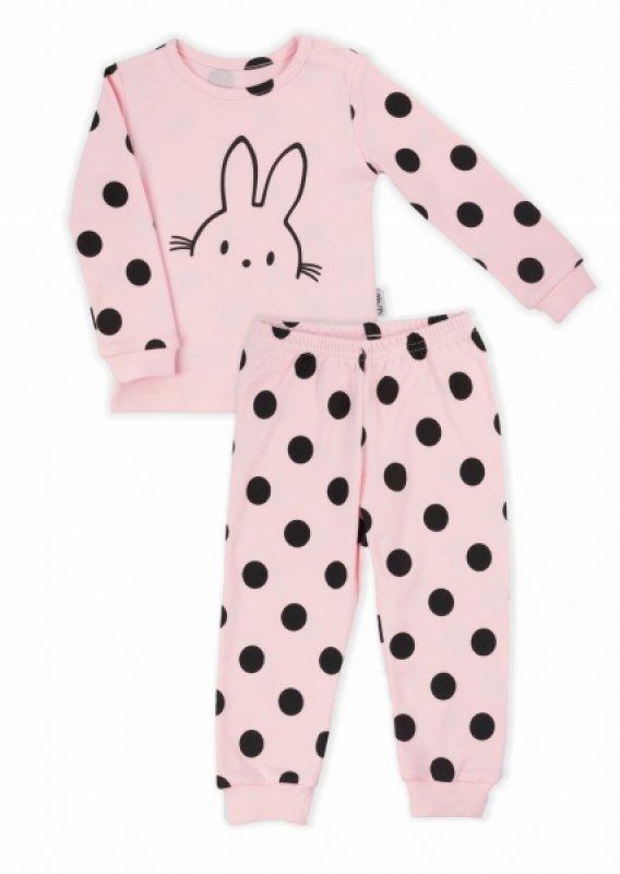 Nicol dětské pyžamo Nicol Bunny puntík - světle - růžové - 86 (12-18m)
