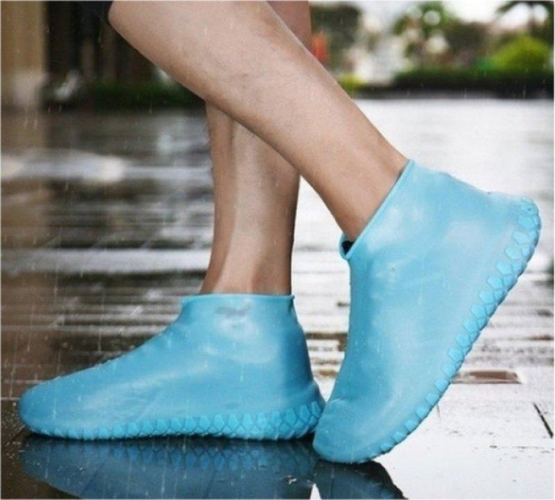 Latexový plášť na boty - Modrá