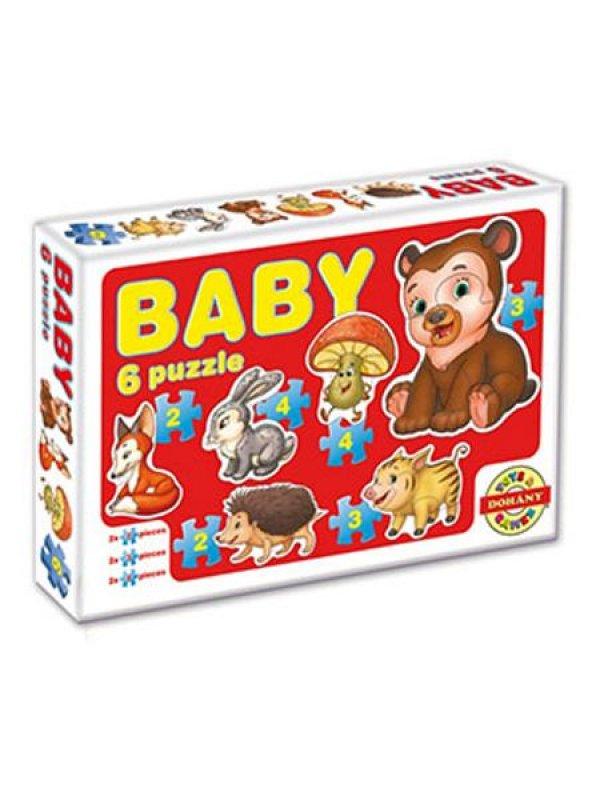 Dětské Baby puzzle - červená