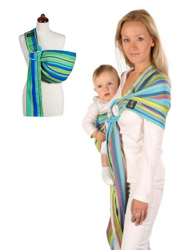 Šátek na nošení dětí Womar Hug Me - zelená