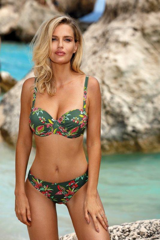 Dvoudílné dámské plavky Self S 734 B19 - Lahvově - zelená/40D-L