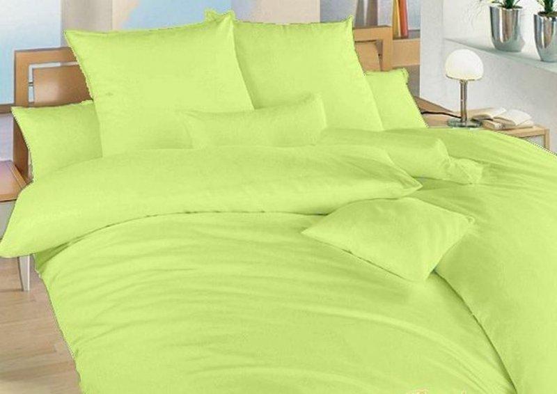 Francouzské povlečení krep UNI 240x220, 70x90cm Zelené, Výběr zapínání: - zipový uzávěr