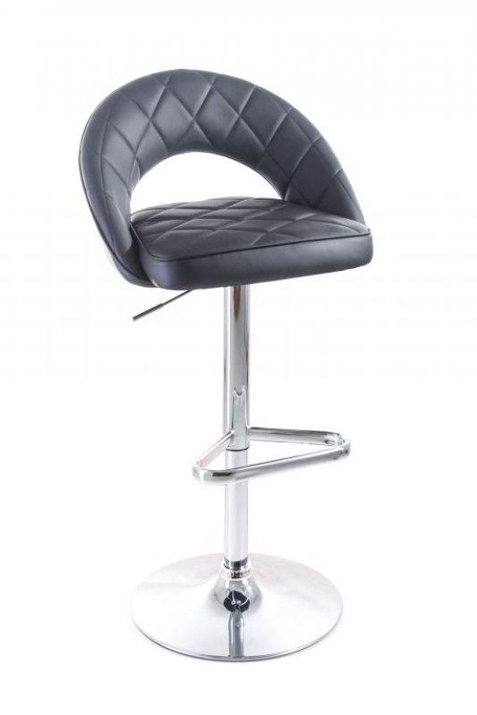 Barová židle G21 Victea black, koženková, prošívaná