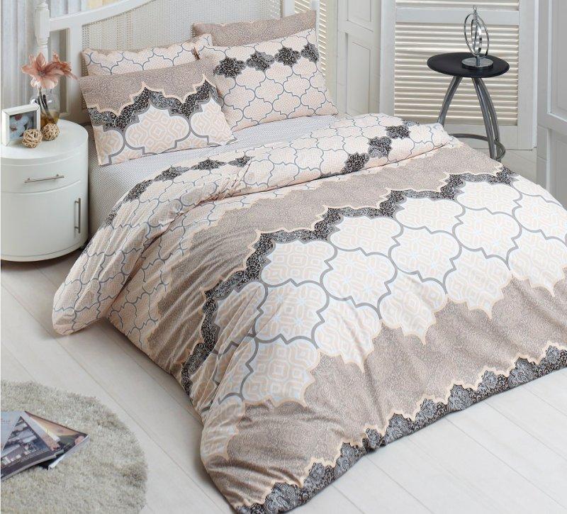 Povlečení francouzské bavlna 220x220,70x90 Kandy natur, Výběr zapínání: - zipový uzávěr