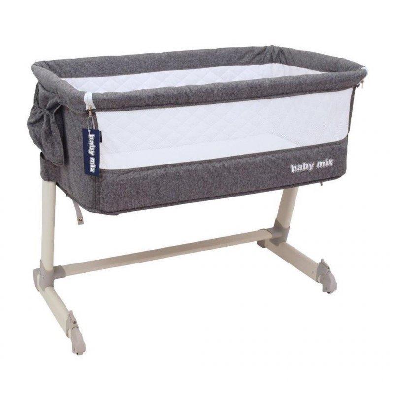 Dětská cestovní postýlka k posteli rodičů Baby Mix Grey - šedá