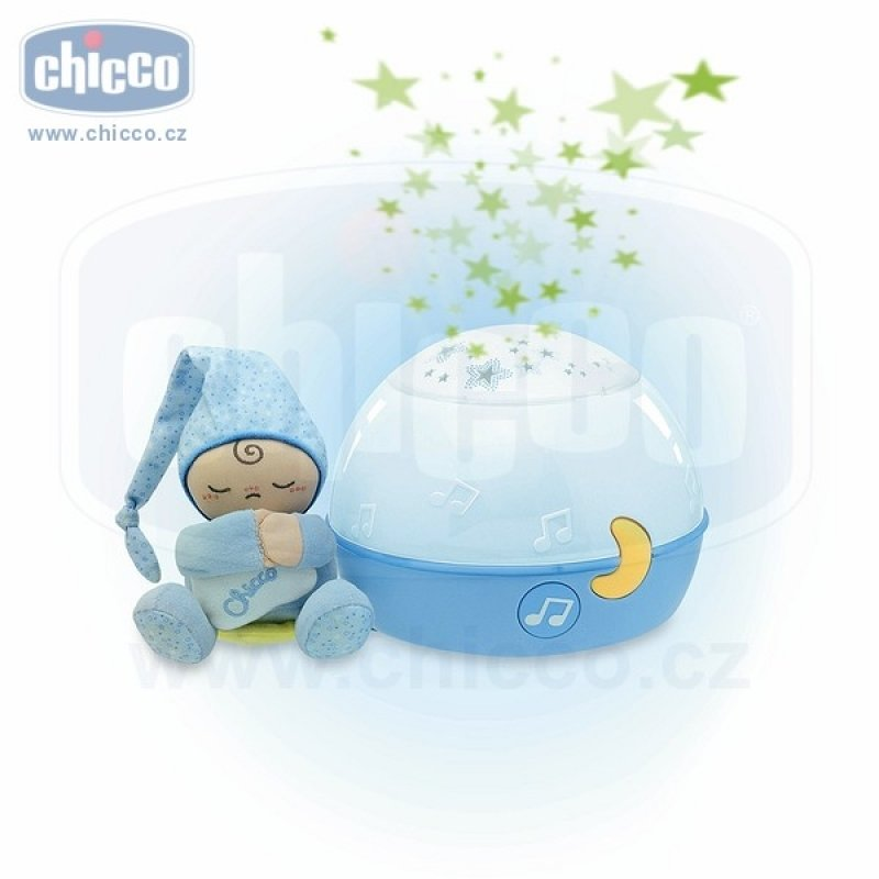 Chicco Lampička hrající noční obloha - modrá