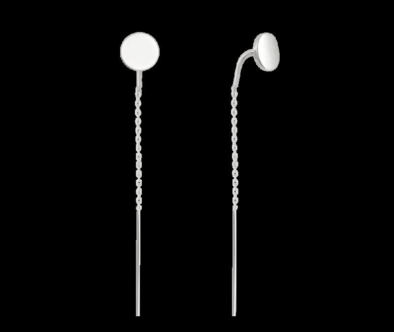 Stříbrné protahovací visací náušnice Minet
