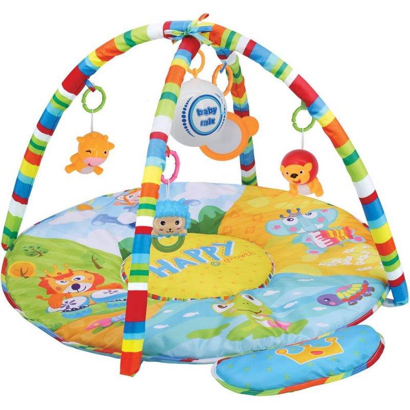 Hrací deka s hracím modulem Baby Mix safari - zelená