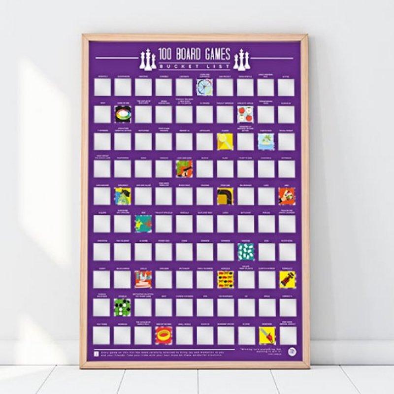Stírací plakát - 100 nejlepších stolních her