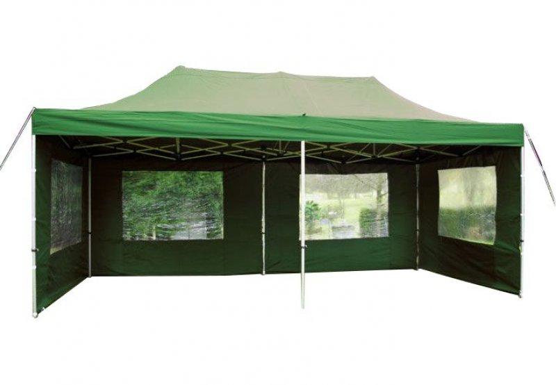 Zahradní párty stan 3 x 6 PROFI - nůžkový - zelený