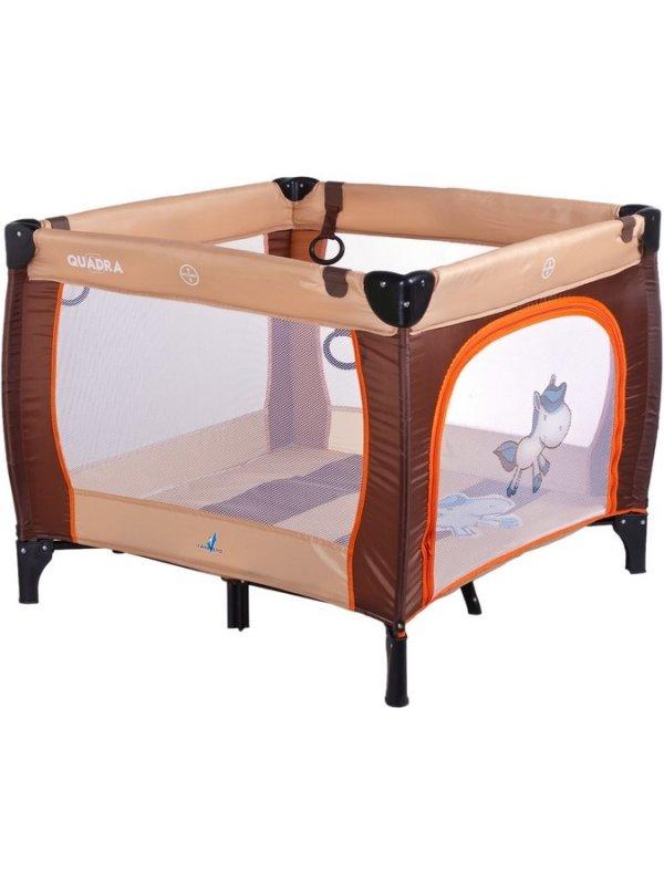 Dětská skládací ohrádka CARETERO Quadra - brown - hnědá