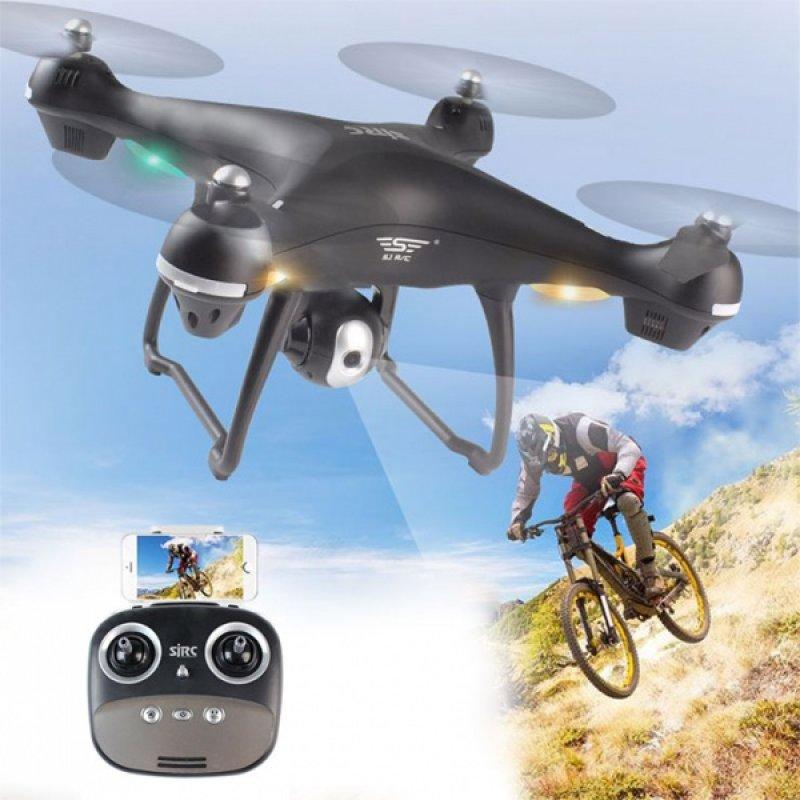 SJ70W - dron s GPS - černá