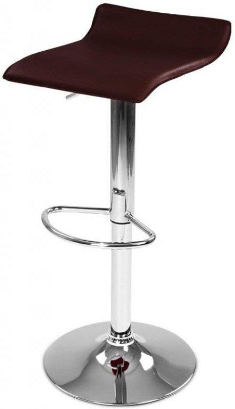 Barová židle z umělé kůže, hnědá