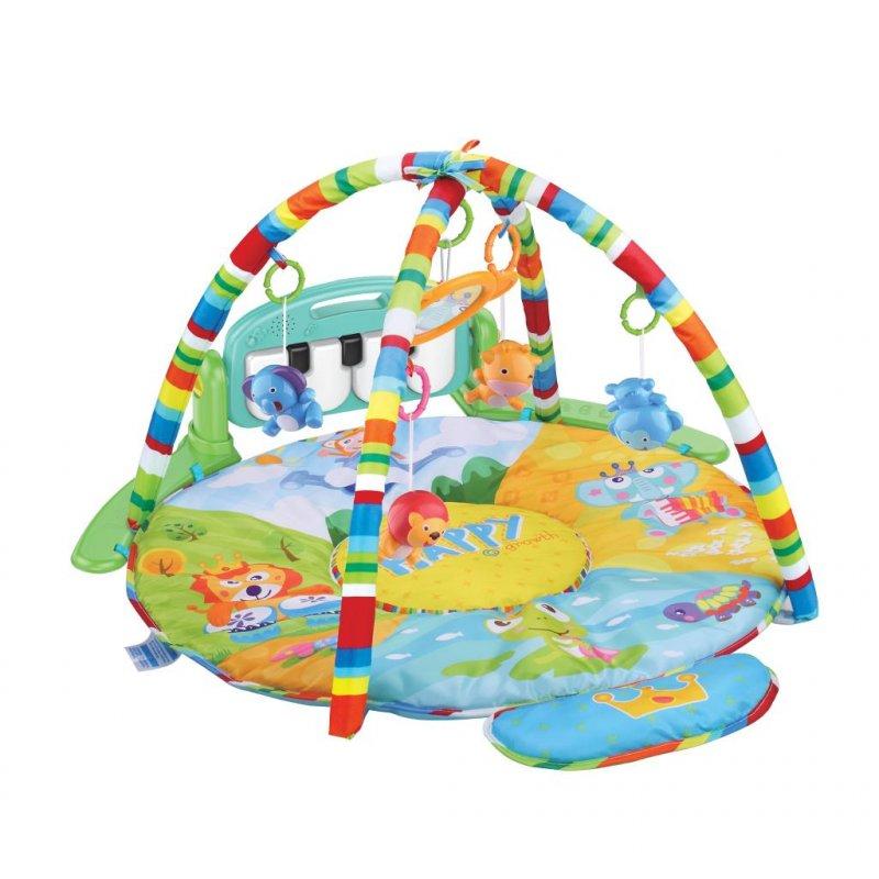 Hrací deka s piánkem Bayo Safari - multicolor