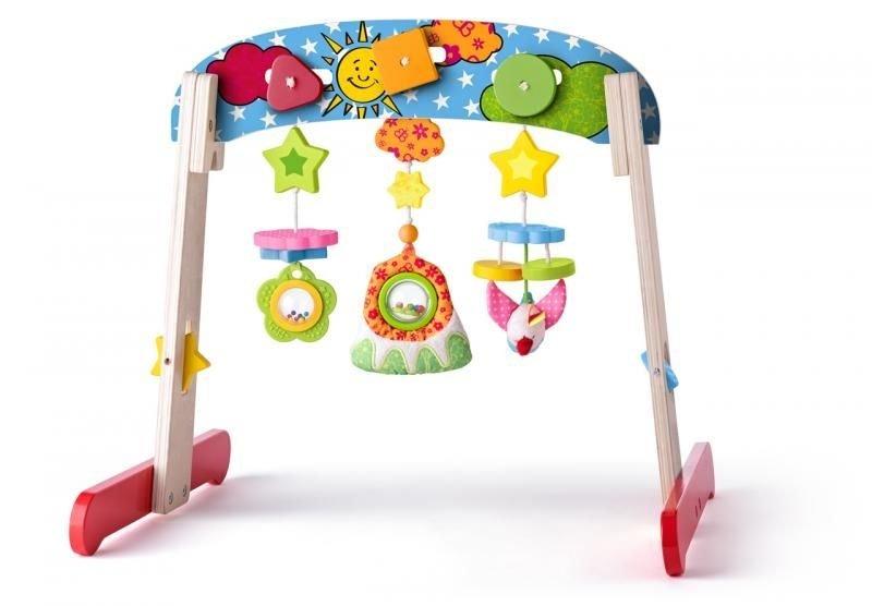 Dřevěná hrazdička Niny s hračkami