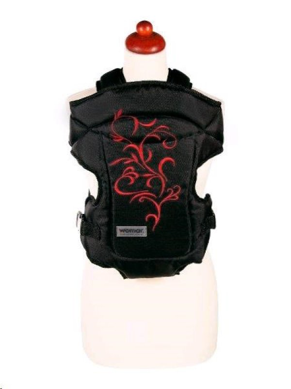 Nosítko Womar Zaffiro Butterfly - černé s červenou výšivkou - černá