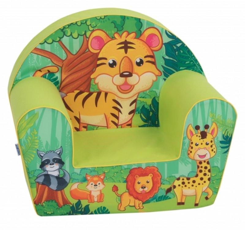 Delsit Dětské křesílko, pohovka - Tygřík v safari