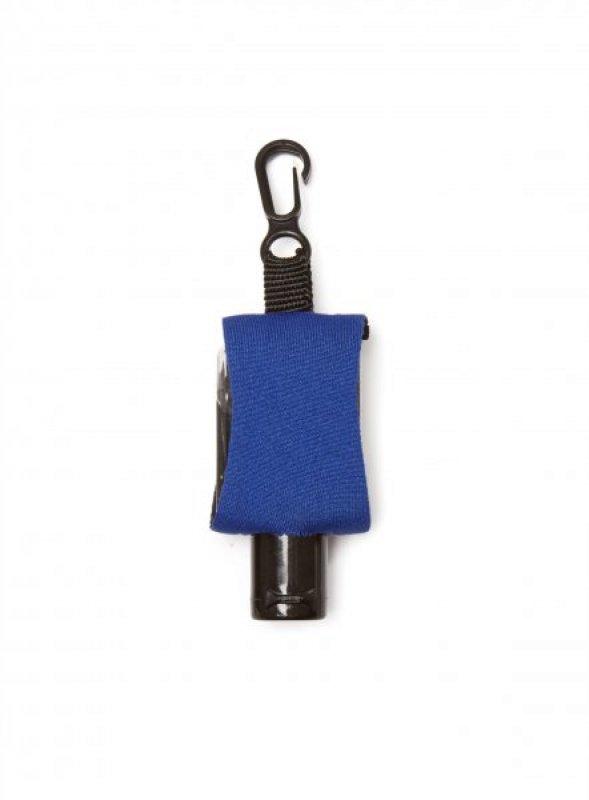 Příruční dezinfekční gel s karabinkou - Modrá