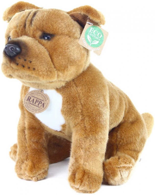 PLYŠ Pes Stafordšírský bulteriér 30cm sedící Eco-Friendly *PLYŠOVÉ HRAČKY*