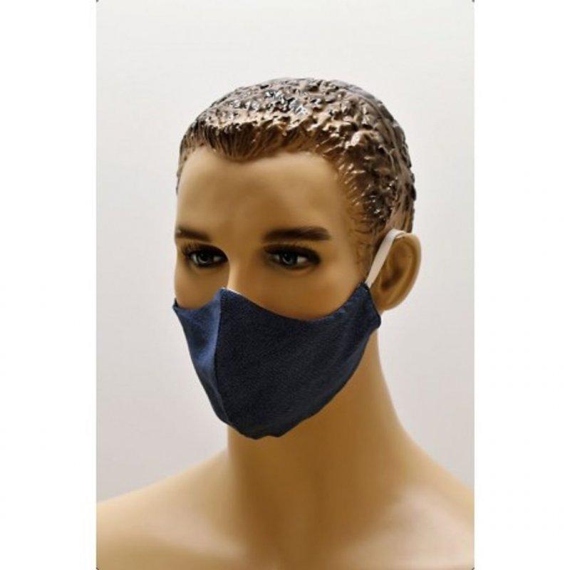 Vestis bavlněná rouška univerzální satén modrá 3ks