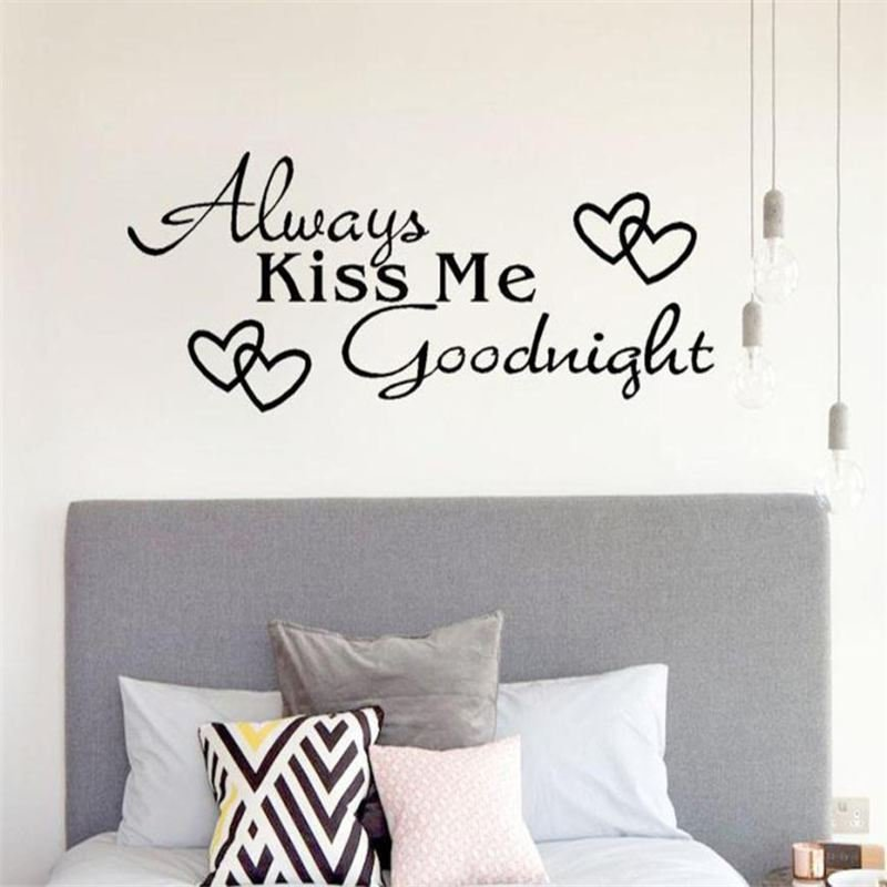 Samolepka na zeď - Always kiss me goodnight
