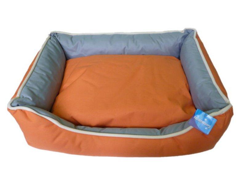 Voděodolný oranžovošedý psí pelech - 75x58 cm
