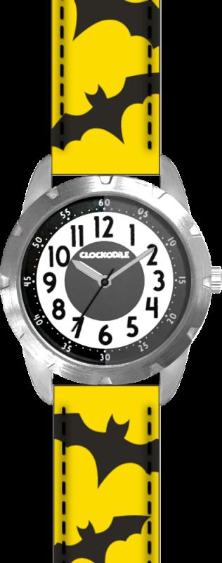 Svítící žluto-černé chlapecké dětské hodinky CLOCKODILE SUPERHERO