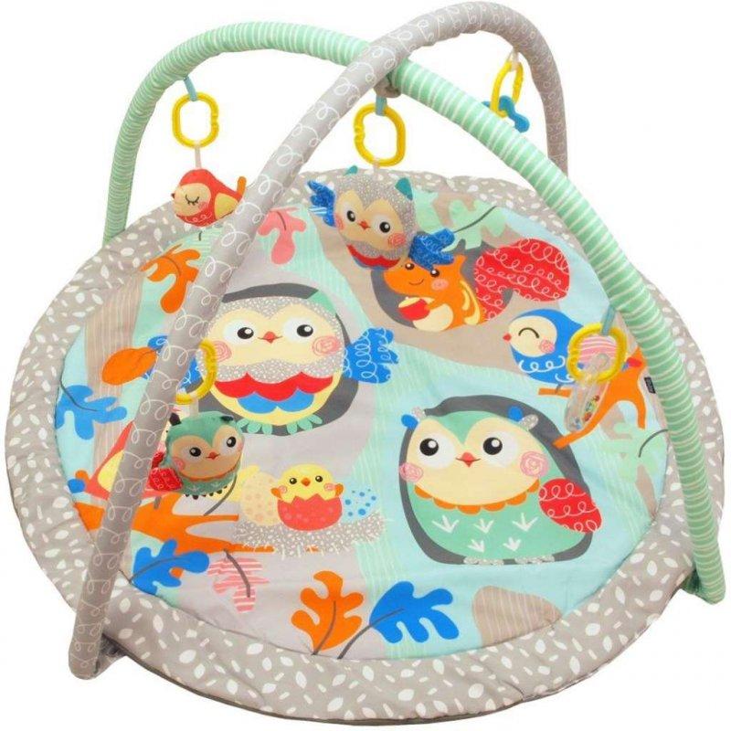 Hrací deka Baby Mix sovičky - tyrkysová