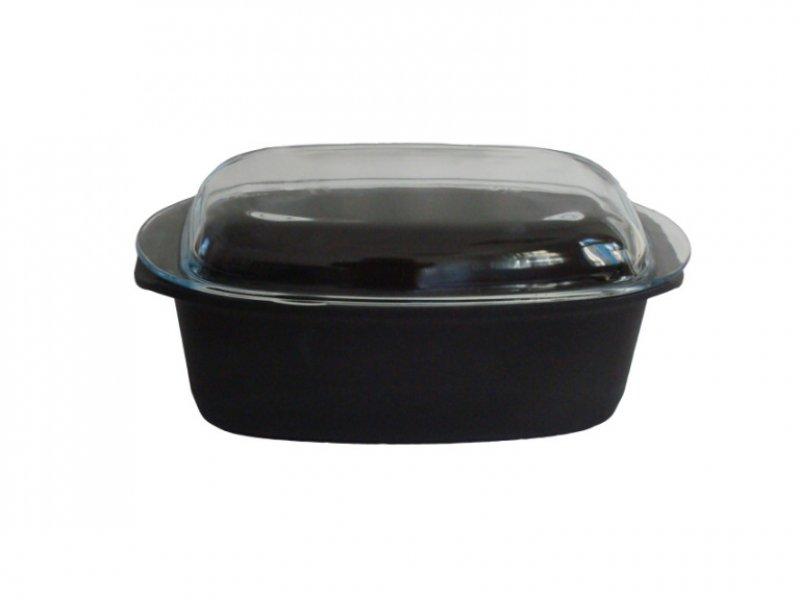 Titanový pekáč se skleněným víkem 5l