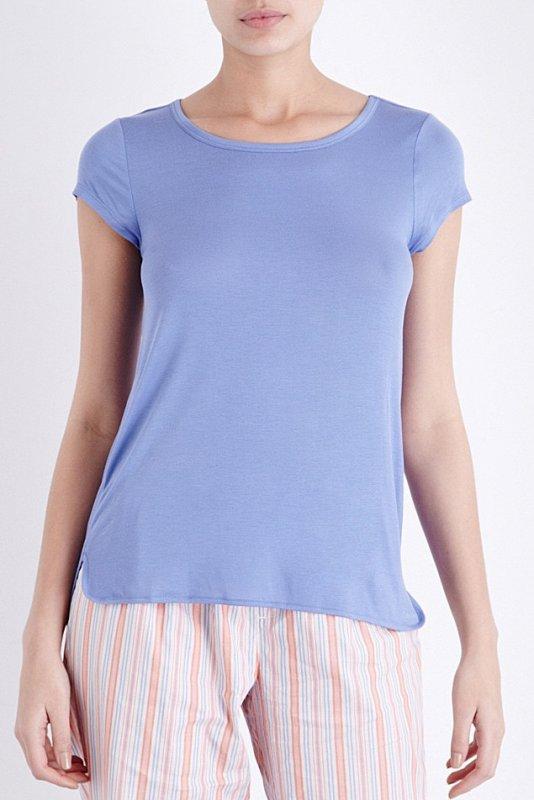Dámské triko CALVIN KLEIN QS5253E modré - L