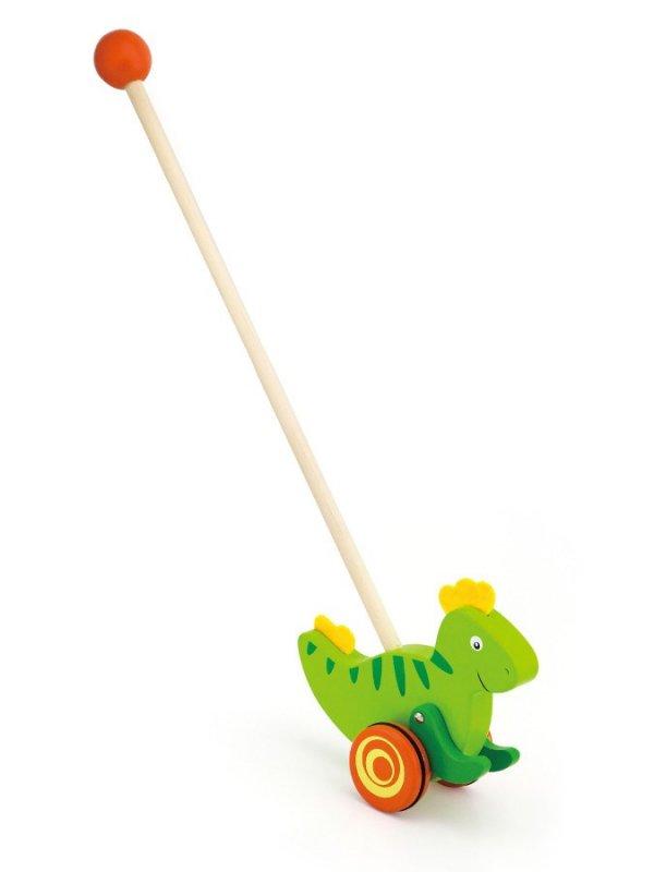 Dřevěná jezdící hračka Viga - dinosaurus - zelená