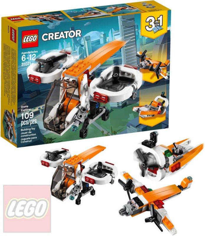 LEGO CREATOR Dron průzkumník 3v1 STAVEBNICE 31071