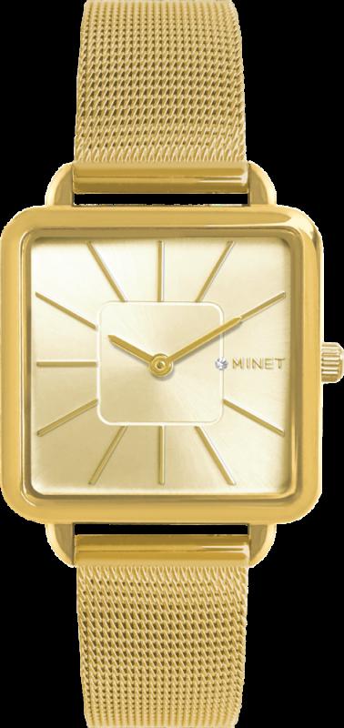 Zlaté dámské hodinky MINET OXFORD