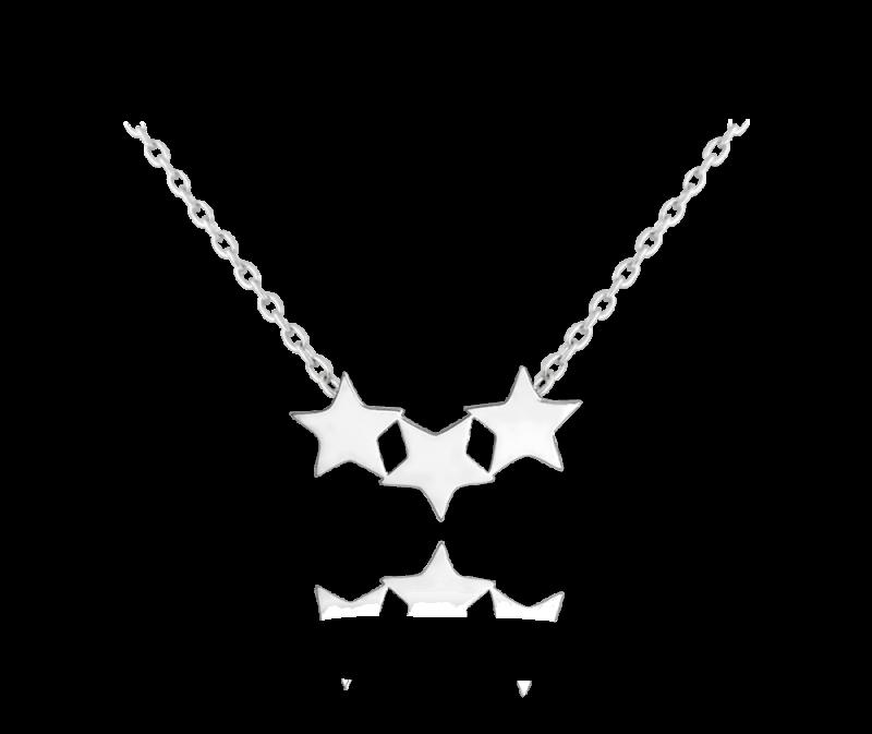 Stříbrný řetízek s hvězdou