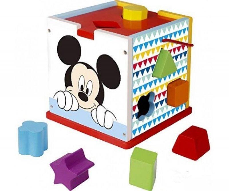 Dřevěná edukační kostka Disney vkládací - Mickey Mouse