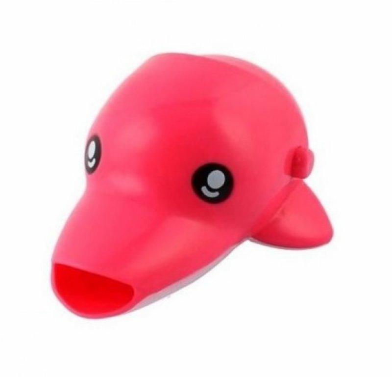 Dětský nástavec na kohoutek - Delfín - růžová