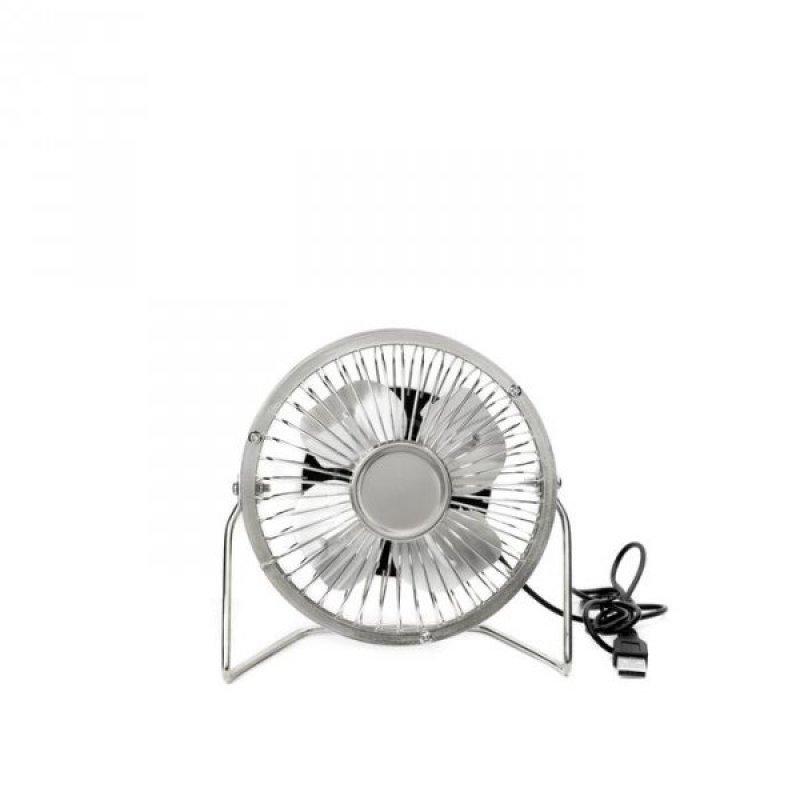Stříbrný stolní USB větrák