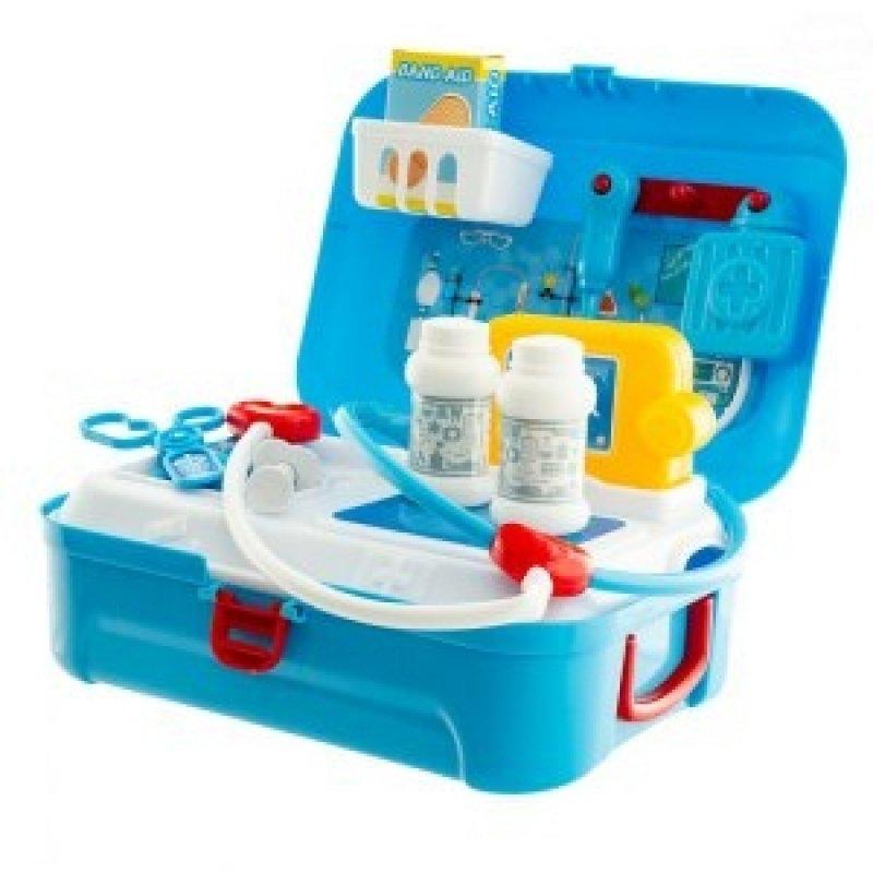 Euro Baby Lékařská sada v plastovém kufříku - modrá