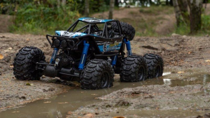 MZ-CLIMB-6WD 1/8 - obří vodotěsný obojživelník - modrý