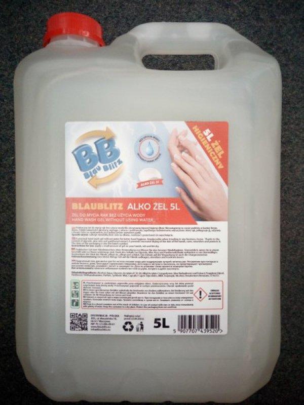 Bezoplachový dezinfikační gel na ruce s Aloe Vera - kanystr 5 litrů